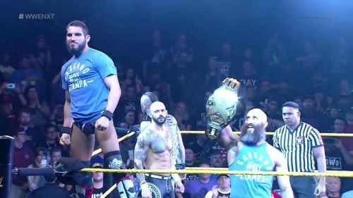 DIY took on Aleister Black and Ricochet in an action-packed main event