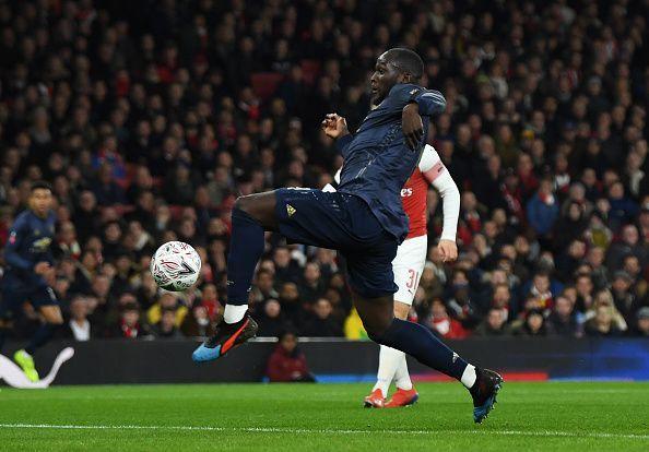 Romelu Lukaku against Arsenal