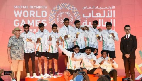 Indian team at the medal ceremony