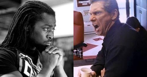 Kofi and McMahon had a grappling match backstage!