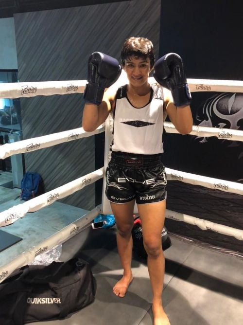 Indian Wrestling Star Ritu Phogat in training at EVOLVE MMA for her Professional MMA debut