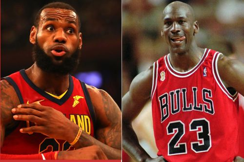 LeBron is the present and that gives him a slight edge.