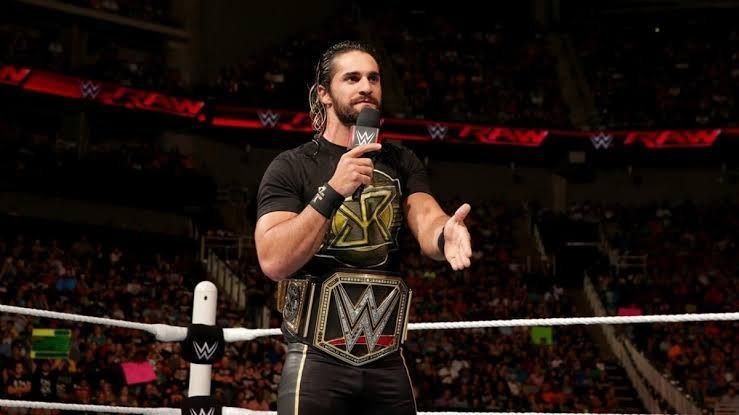 Rollins as the WWE World champion