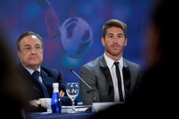 Sergio Ramos reportedly had a dressing-room bust-up with club president Florentino Perez