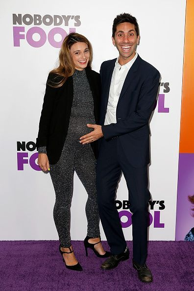 Nev Schulman and wife Laura Perlongo at the New York premiere of