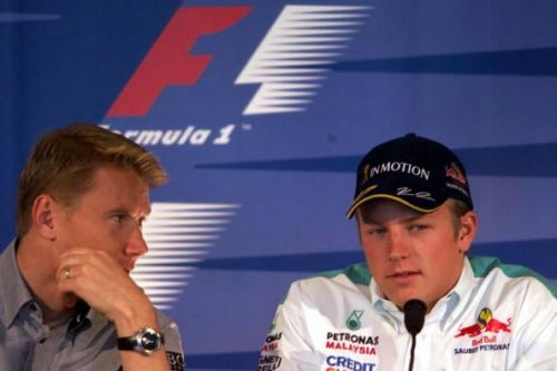Mika Hakkinen (left) and Kimi Raikkonen are both F1 World Champions from Finland.