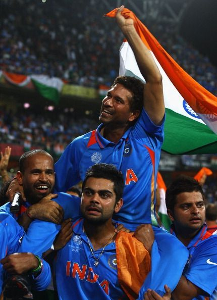 That moment of you carrying Sachin on your shoulders will be etched in our minds forever