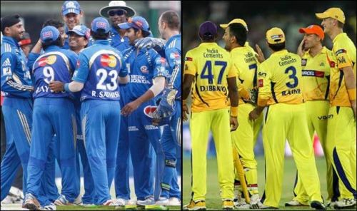 Mumbai Indians And Chennai Super Kings Team