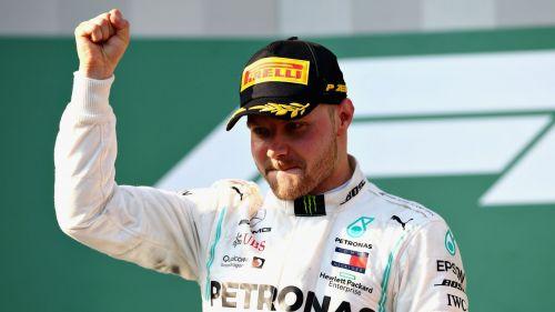 Valtteri Bottas after winning the Australian Grand Prix