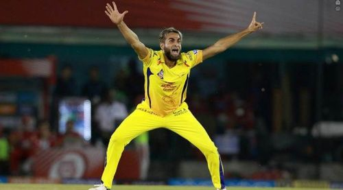 Imran Tahir - Quite fresh from bowling a Super Over