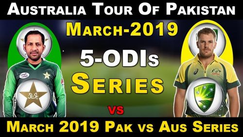 Pakistan will host the Kangaroos for five-match ODI series in UAE.