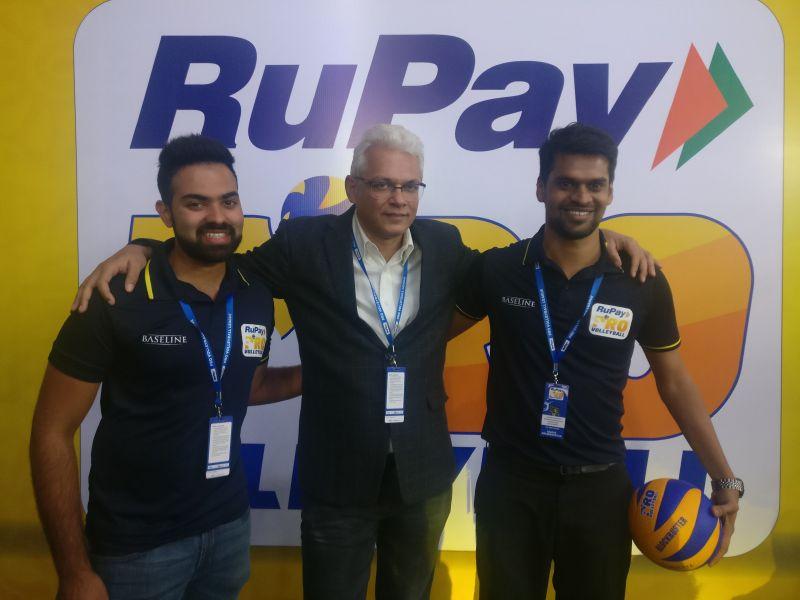 RuPay Pro Volleyball League ,CEO - Joy Bhattacharjya with Avnish Sistla and Chirag Manjunath