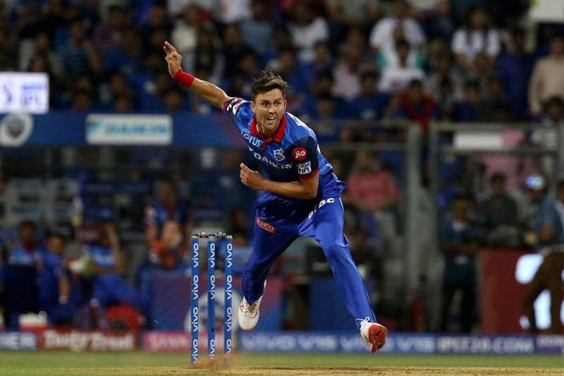 Boult sends one down in in the game against MI (Image Courtesy: IPLT20)