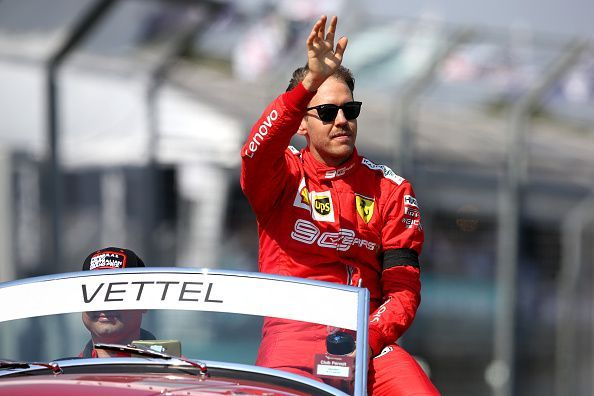 Vettel could only manage a fourth place finish at the first race of the  season ee195e22e43