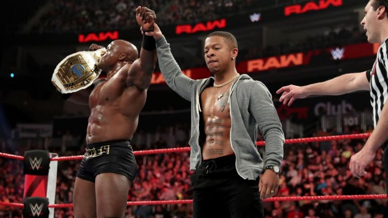 Lashley after winning the Intercontinental Title