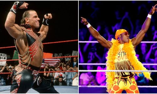 Shawn Michaels and Velveteen Dream.