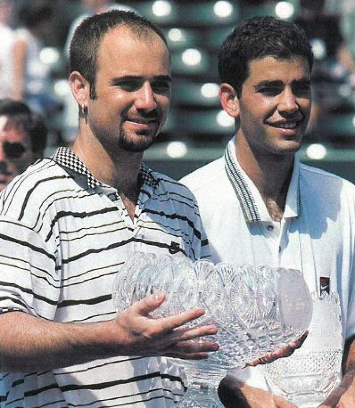 Andre Agassi after his victory in Miami open 1995
