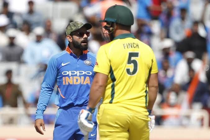 Indian players are wearing a special cap as a tribute to the army personnel