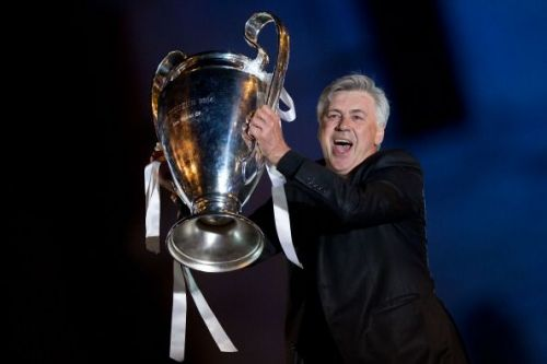 Carlo Ancelotti at the Real Madrid Victory Parade After Winning the 2014 UEFA Champions League Final