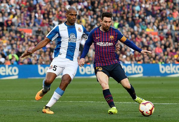 Naldo had to remain defensively alert and was everywhere at the back against an ever-present Barca attack