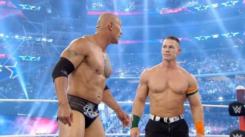 Two legends saving the day, after The Rock pinned Rowan