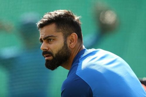 Virat Kohli practising before the match against Australia