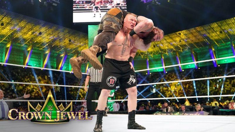 Brock Lesnar defeated Braun Strowman at Crown Jewel