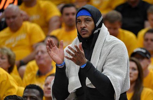 Carmelo Anthony spent a lone season with the Oklahoma City Thunder