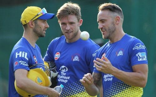 David Willey on the middle - The retained all-rounder for CSK at the cost of Mark Wood on the left