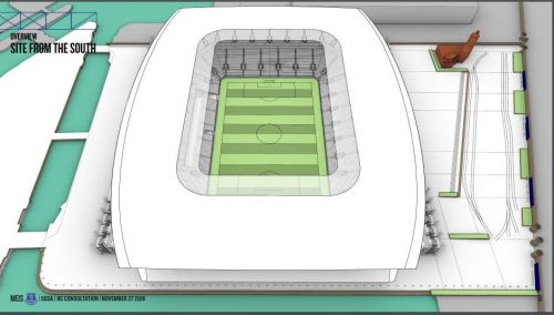 Design showing the South Stand renovation (https://www.evertonarentwe.com/EFC.pdf)