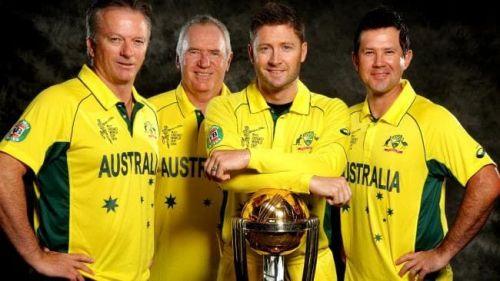 Australia's World cup winning captains