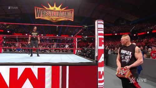 Brock Lesnar will defend his universal title against Seth Rollins at WrestleMania 35