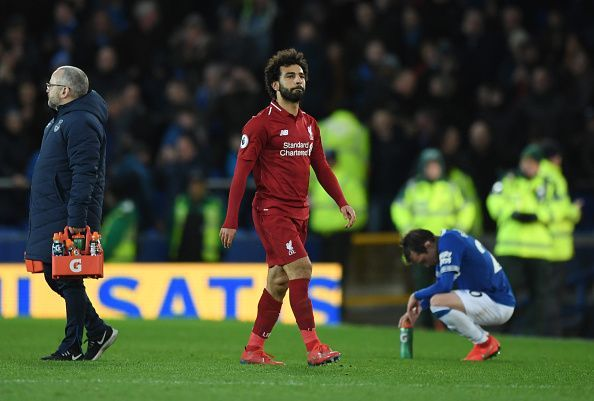 Everton FC v Liverpool FC - Salah cuts a sorry figure after a dismal performance