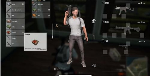 Pubg Lite PC Inventory UI