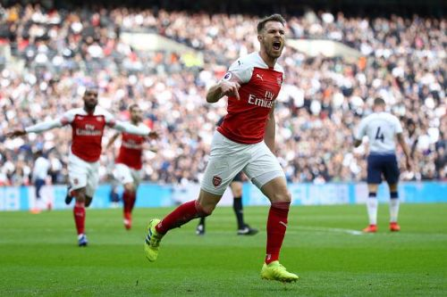 Aaron Ramsey opened the scoring for Arsenal