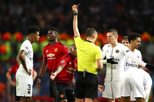 Pogba was sent off against PSG. He could strengthen their European ambitions.