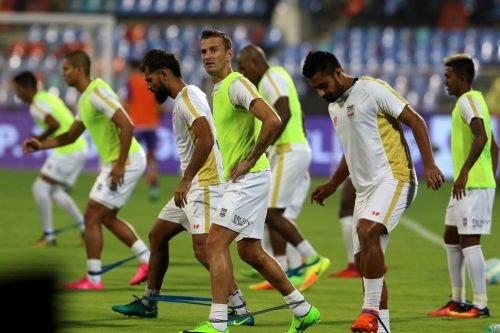 Lucian Goian hopes to continue with Mumbai City FC post-2018-19 season. ISL Media