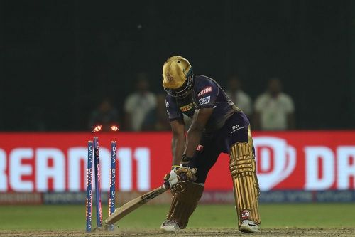 Rabada bowled Russell off the third ball of the super over (Picture Credits: iplt20.com)
