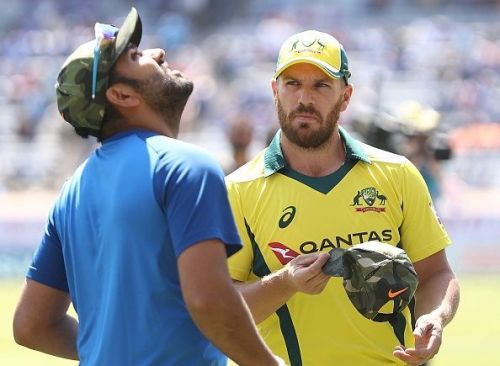 Rohit Sharma and Aaron Finch