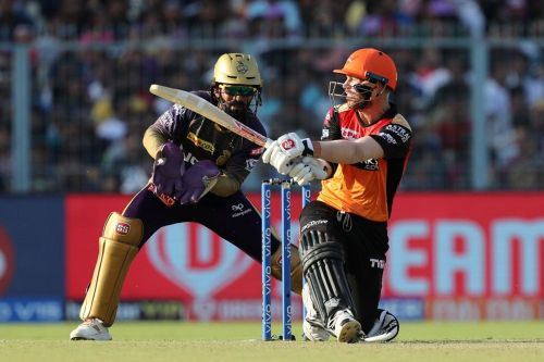 Warner looked to be in great touch but his knock went in vain in the end Image Courtesy: IPLT20