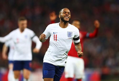 Raheem Sterling's hat-trick helped England to a 5-0 win over the Czech Republic