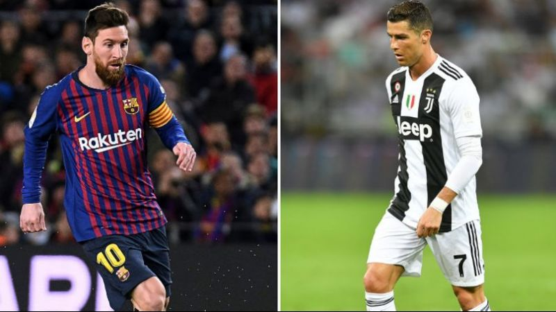 Where do Cristiano Ronaldo and Lionel Messi rank among the top goalscorers from Europe