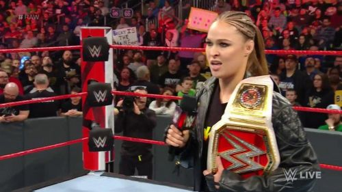 Ronda Rousey didn't interfere last night to help Becky Lynch
