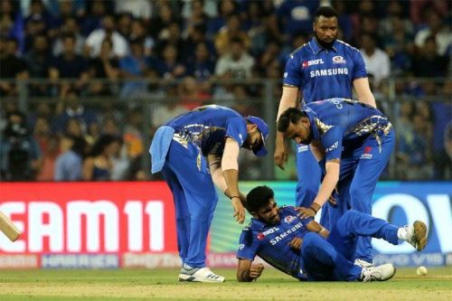 Bumrah Injured yesterday's Match against Delhi Capitals.