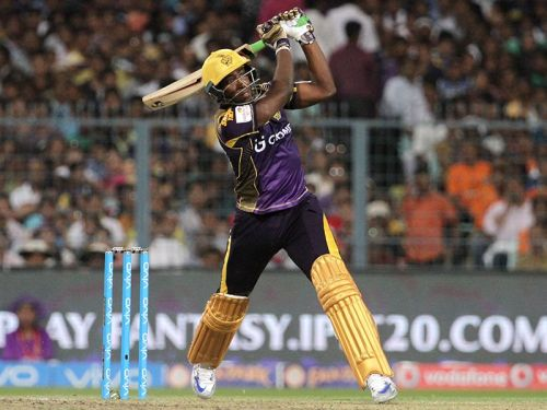 कोलकाता नाईट राइडर्स के लिए खेलतेआंद्रे रसेल