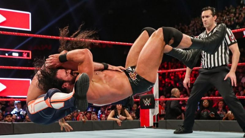 Rollins and McIntyre competed in the best match of the night!