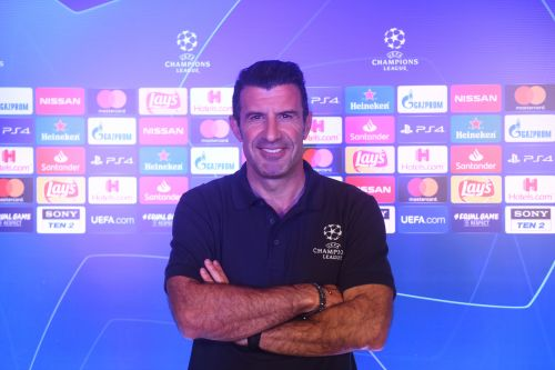 Luis Figo at the UEFA Champions League Global Fan event in Mumbai on Friday. UEFA Media