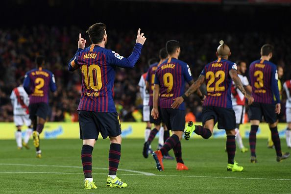 Lionel Messi celebrates - It was another masterclass by the Argentine legend