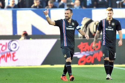 At 36, Quagliarella is tied with Cristiano Ronaldo for top scorer in Serie A