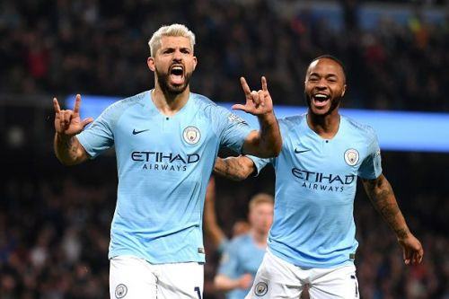 Manchester City duo Sergio Aguero and Raheem Sterling are also in the running